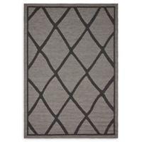 Unique Loom Diamonds 6' x 9' Loomed Indoor/Outdoor Area Rug in Grey