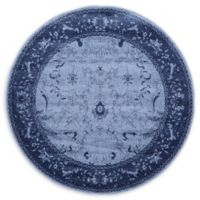 Unique Loom La Jolla 6' Round Area Rug in Blue
