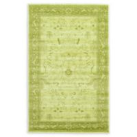 Unique Loom La Jolla Floral 5' x 8' Area Rug in Light Green