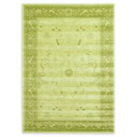 Unique Loom La Jolla Floral 7' x 10' Area Rug in Light Green