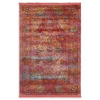 Unique Loom Rumba Havana 4'3 x 6' Area Rug in Red