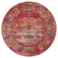 Unique Loom Rumba Havana 5' Round Area Rug in Red