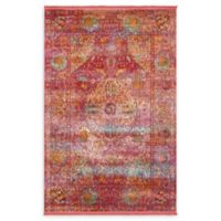 Unique Loom Rumba Havana 5' x 8' Area Rug in Red