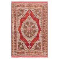 Unique Loom Castro Havana 4'3 x 6' Area Rug in Red