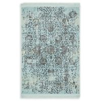 Unique Loom Havana 2'2 x 3' Accent Rug in Light Blue