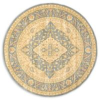 Unique Loom Daisy Heritage 6' Round Area Rug in Blue