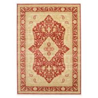 Unique Loom Daisy Heritage 7' x 10' Area Rug in Red