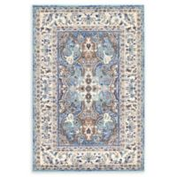 Unique Loom Heritage Tradition 4' x 6' Area Rug in Light Blue