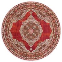 Unique Loom Havana 5' Round Area Rug in Red