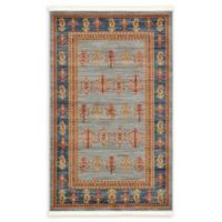 Unique Loom Nomad Darya 3'3 x 5'3 Area Rug in Light Blue