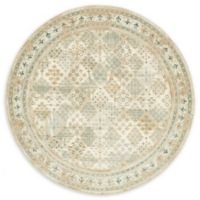 Unique Loom Cambridge 6' Round Area Rug in Beige