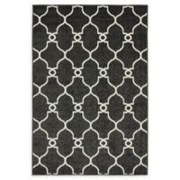 Unique Loom Columbus 4' x 6' Power-Loomed Area Rug in Black