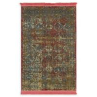 Unique Loom Cayo Hueso 2'2 x 3' Power-Loomed Accent Rug in Red
