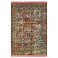 Unique Loom Cayo Hueso 4'3 x 6' Power-Loomed Area Rug in Red