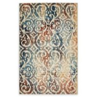 Unique Loom Congo Ethereal 5' x 8' Power-Loomed Area Rug in Blue