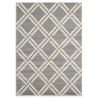 Unique Loom Detroit Trellis 7' x 10' Area Rug in Grey
