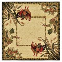 Unique Loom Rooster 6' x 6' Area Rug in Cream
