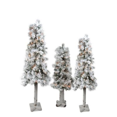Buy Set Of 3 Christmas Trees Bed Bath Beyond