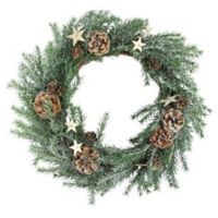 Northlight Holiday Moments 13.5-Inch Pinecones and Stars Wreath