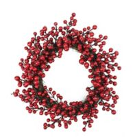 16-Inch Red Berry Artificial Christmas Wreath