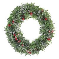 20-Inch Boxwood Artificial Christmas Wreath