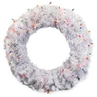 DAK 24-Inch Pre-Lit Cedar Wreath with Multicolor Lights
