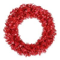 Vickerman 36-Inch Wide Tinsel Pre-Lit Artificial Christmas Wreath