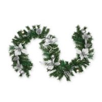Northlight 6-Foot Traditional Pine Garland in Silver