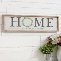 Home Wreath 30-Inch x 8-Inch Barnwood Frame Wall Art