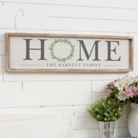 Home Wreath 30-Inch x 8-Inch Barnwood Frame Wall Art