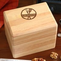 Family Brand Wood Recipe Box