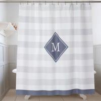 Classic Initial Shower Curtain