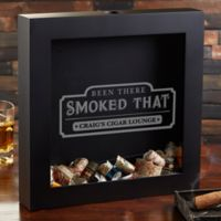 Been There Smoked That Cigar Label Shadow Box