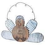 "Boston International ""Give Thanks"" Wobbly Hanging Turkey in Brown/Silver"