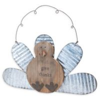 """Boston International """"Give Thanks"""" Wobbly Hanging Turkey in Brown/Silver"""