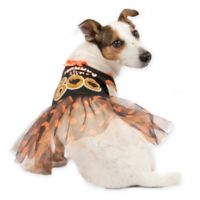 """Mommy's Little Boo"" Extra Small Tutu Dress Costume in Orange/Black"