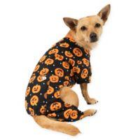 Extra-Small Pumpkin Print Pajamas in Orange