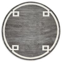 Jill Zarin Uptown 8' Round Power-Loomed Area Rug in Grey