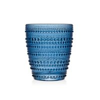 Lumina Hobnail Double Old Fashioned Glasses in Blue (Set of 4)