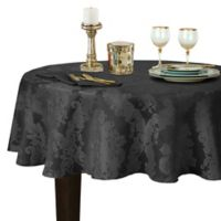 Barcelona Damask 70-Inch Round Tablecloth in Grey