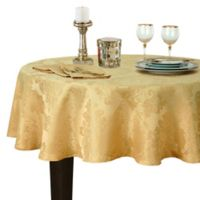 Buy 90 Inch Round Gold Tablecloth From Bed Bath Amp Beyond