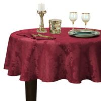 Barcelona Damask 70-Inch Round Tablecloth in Burgundy
