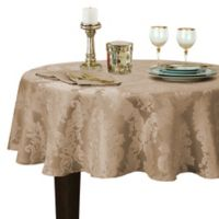 Barcelona Damask 70-Inch Round Tablecloth in Beige