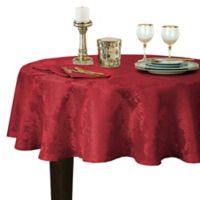 Barcelona Damask 70-Inch Round Tablecloth in Red
