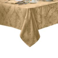 Barcelona Damask 60-Inch x 84-Inch Oval Tablecloth in Gold