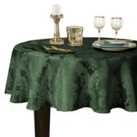 Barcelona Damask 90-Inch Round Tablecloth in Hunter