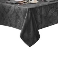 Barcelona Damask 60-Inch x 84-Inch Oval Tablecloth in Grey