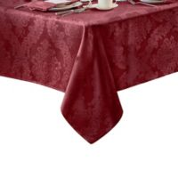 Barcelona Damask 60-Inch x 84-Inch Oval Tablecloth in Burgundy