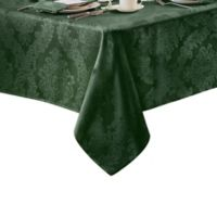 Barcelona Damask 60-Inch x 84-Inch Oval Tablecloth in Hunter