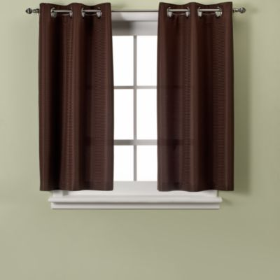 Wonderful Hookless® Waffle 45 Inch Window Curtain In Chocolate